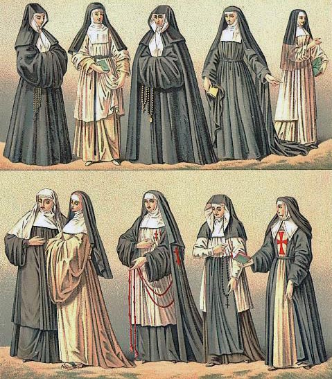 Medieval Nuns Clothing http://www.bordermarches.com/border_life/life-in-the-abbey/