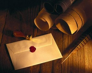 Envelope, Seal and Quill