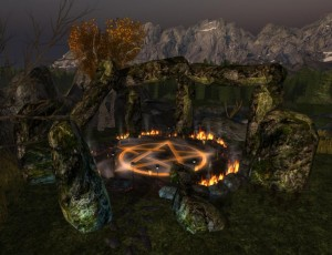 Witches' Circle at Night