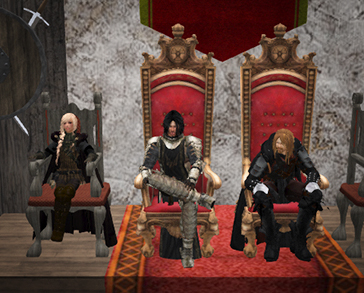 Wardens and Countess at Court