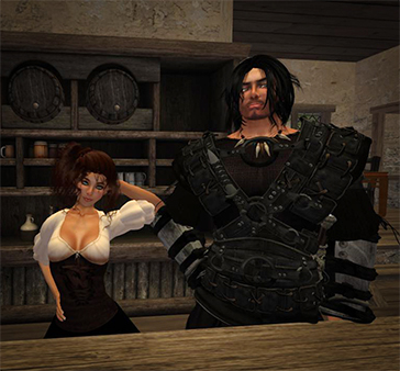 Bryantt and Karissa in Tavern